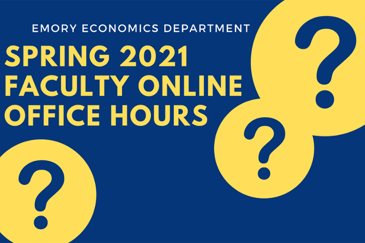 Spring 2021 Economics Faculty Office Hours