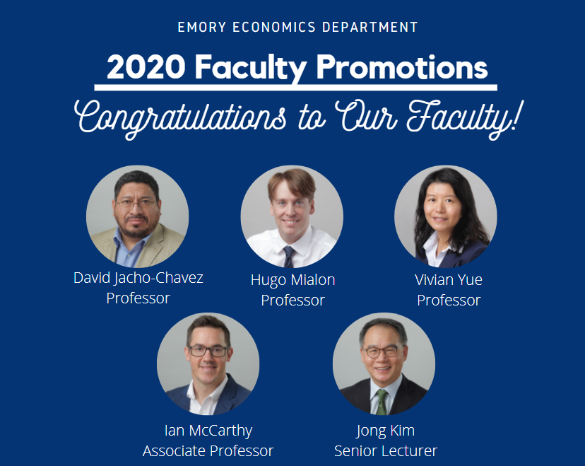 2020 Faculty Promotions
